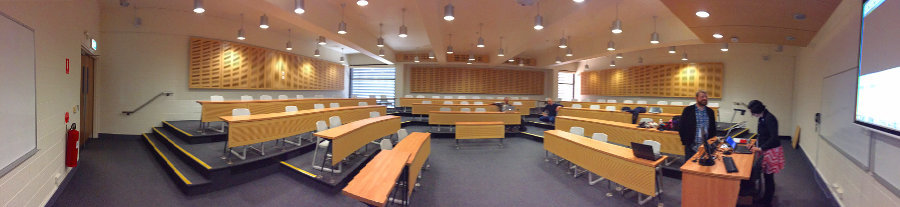 Setting up the room for DH2015 talk