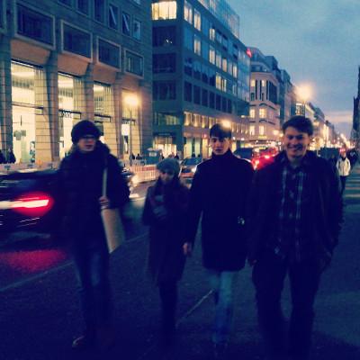 Walking down Friedrichstrasse.